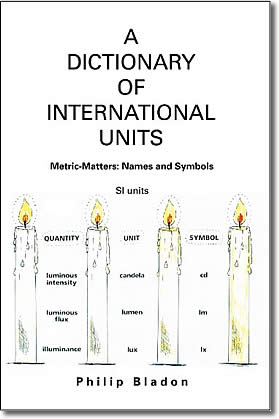 cover - SI Metric Matters: A dictionary of International Units