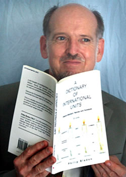 Philip Bladon with a Dictionary of International Units
